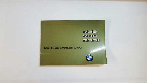 BMW E 23 - 728, 730, 733i - Betriebsanleitung mit Schaltplan