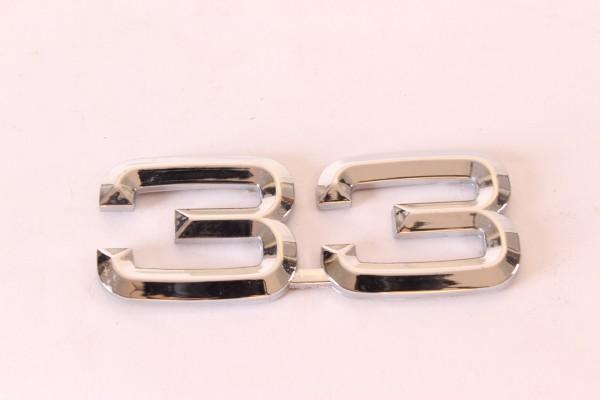 Modellzeichen Schriftzug '33' Alfa 33 NEU Original