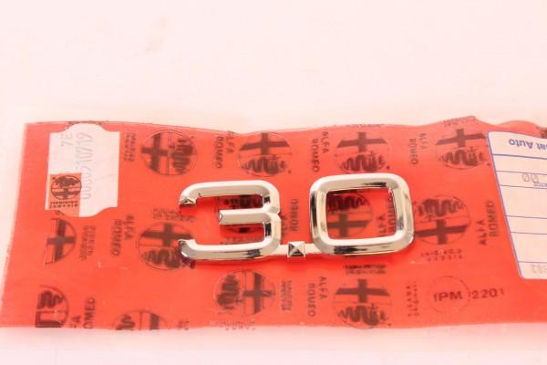 Modellzeichen Schriftzug '3.0' Alfa 75 3.0 + 164 3.0 NEU Original