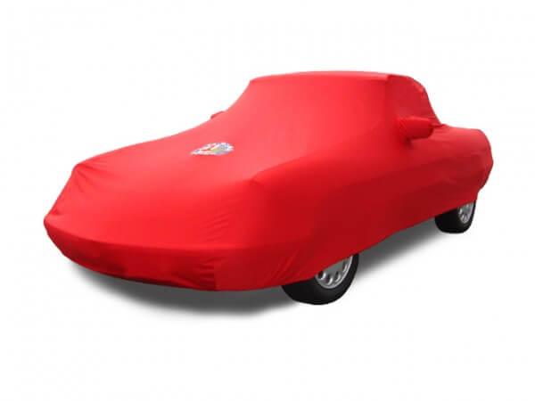 Autodecke Maßanfertigung rot inkl. Emblem und Tasche Alfa Spider Bj. 1970-1993 NEU