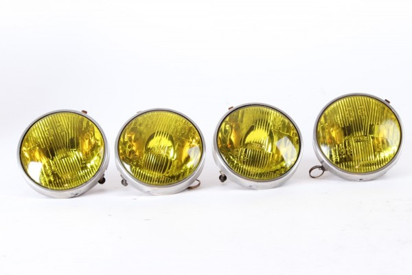 Satz 4 Scheinwerfer gelb GEBRAUCHT 19000 KM Alfasud Sprint 1. Serie