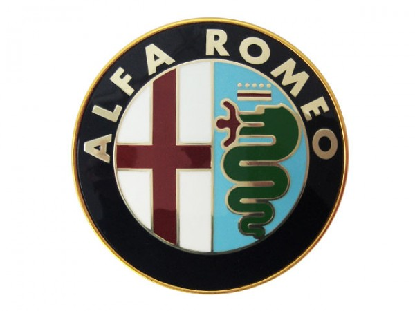 Emblem 75 mm Alfa Romeo 33+75+90+RZ/SZ+145/6+155+156+164+166+Spider+GTV/Spider (916) NEU
