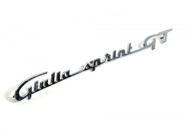 Modellzeichen Schriftzug 'Giulia_Sprint_GT' NEU Giulia Sprint