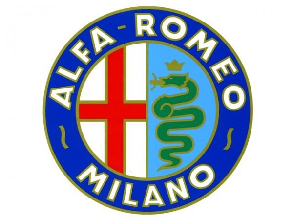 "Alfa Romeo Aufkleber - Sticker - ""Alfa Romeo Milano"" 22 cm"