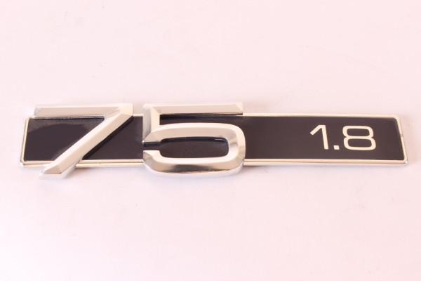 Modellzeichen Schriftzug '75 1.8' Alfa 75 1.8 NEU Original